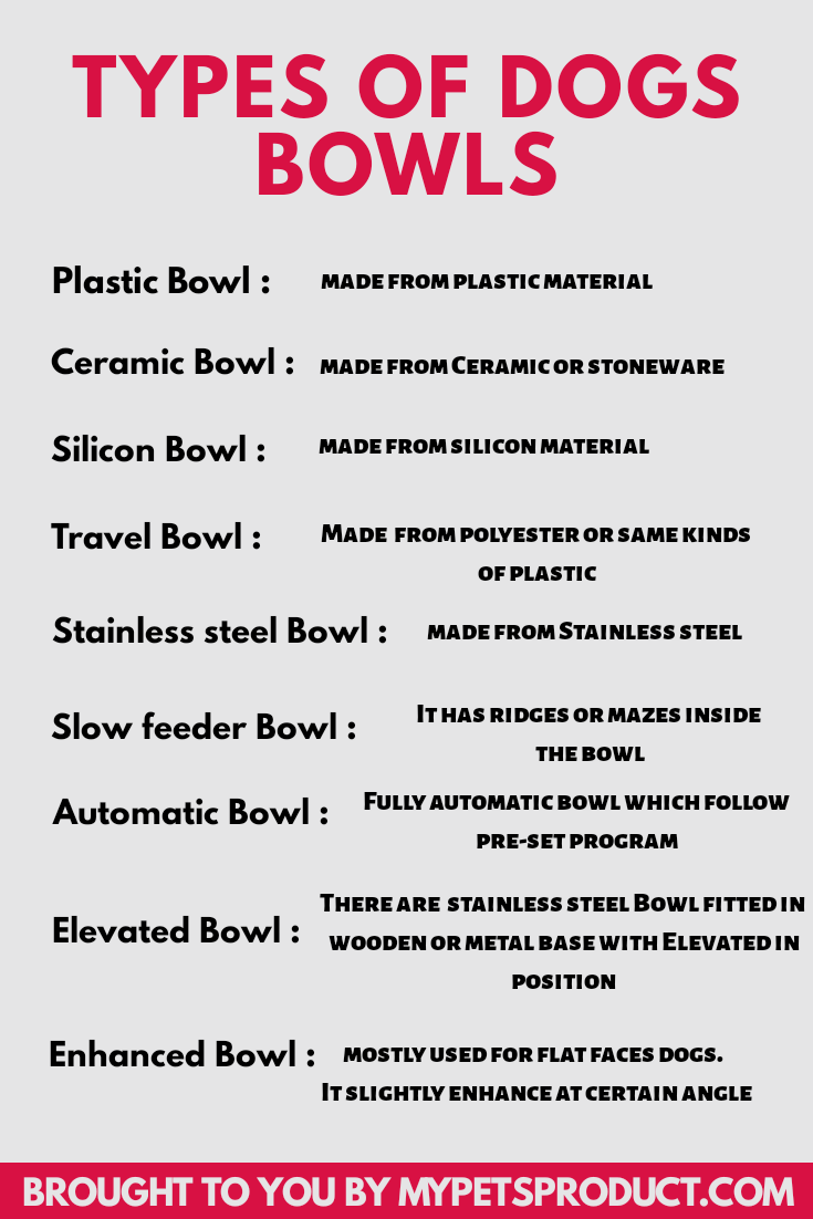 types of dog bowls